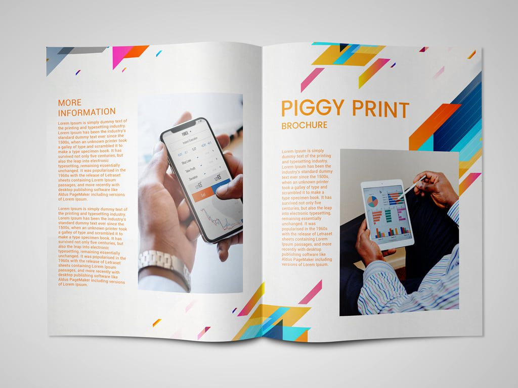 Business focused colour brochure