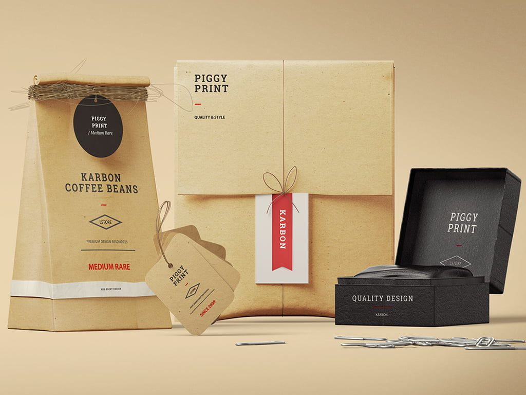 Various branded business labels & packaging
