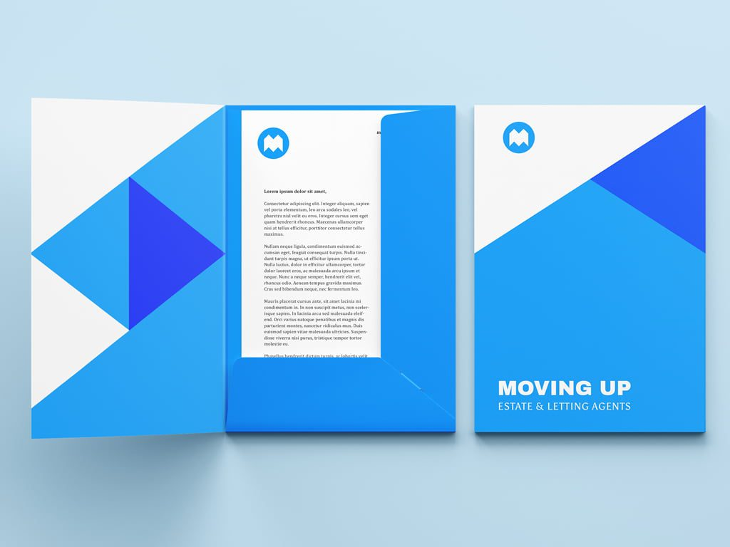 Branded professional presentation folder